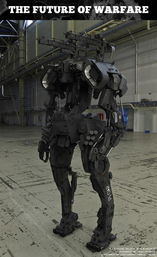 The future of warfare looks badass…