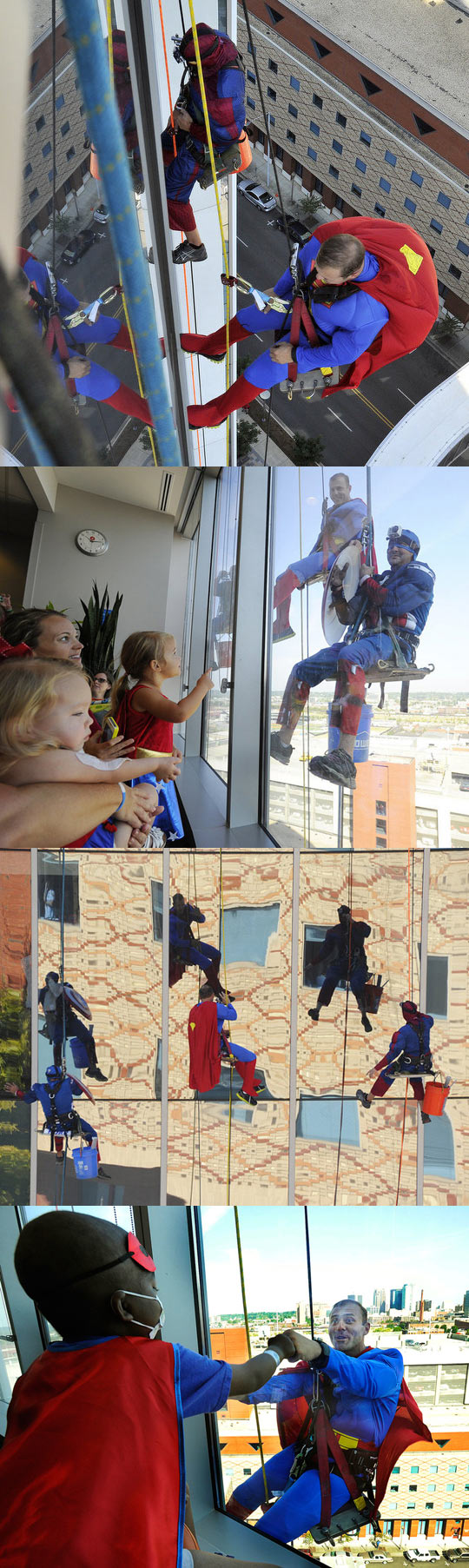 cool-window-washers-superheroes-childrens-hospital