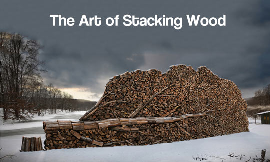 The right way to stack wood…