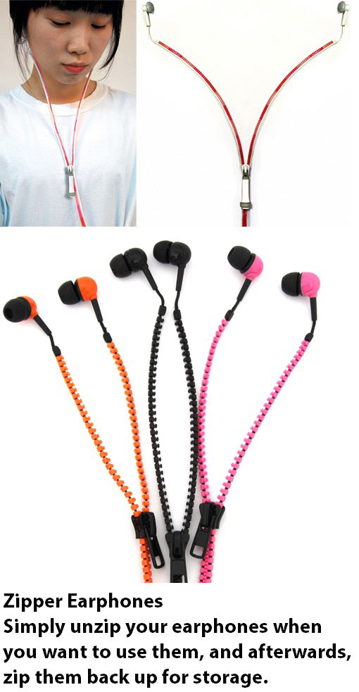 Zipper Earphones…