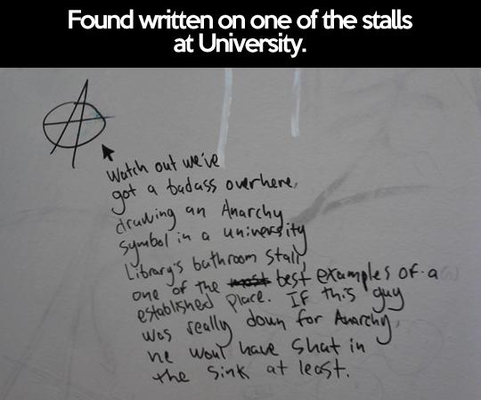 funny-Anarchy-symbol-stall-University