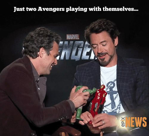 Just two Avengers…