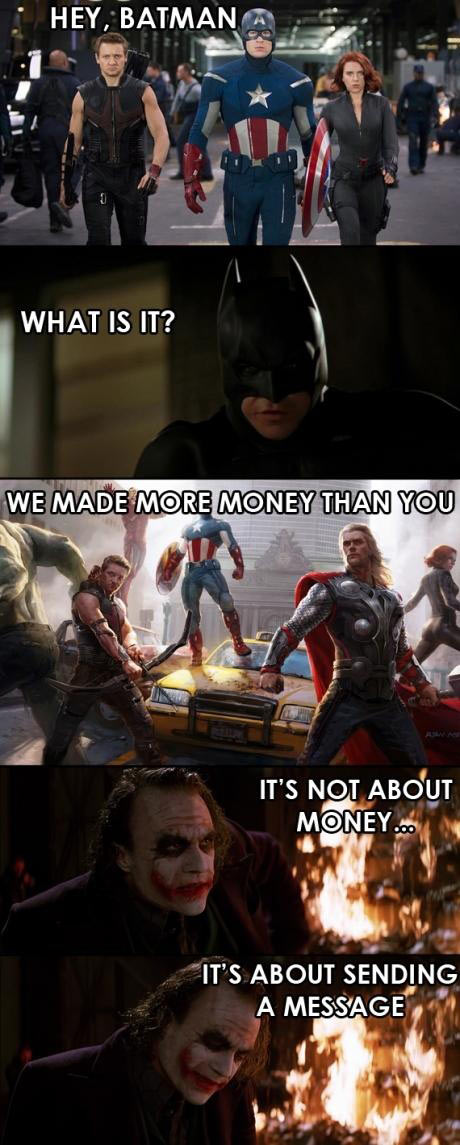 It's not about the money…