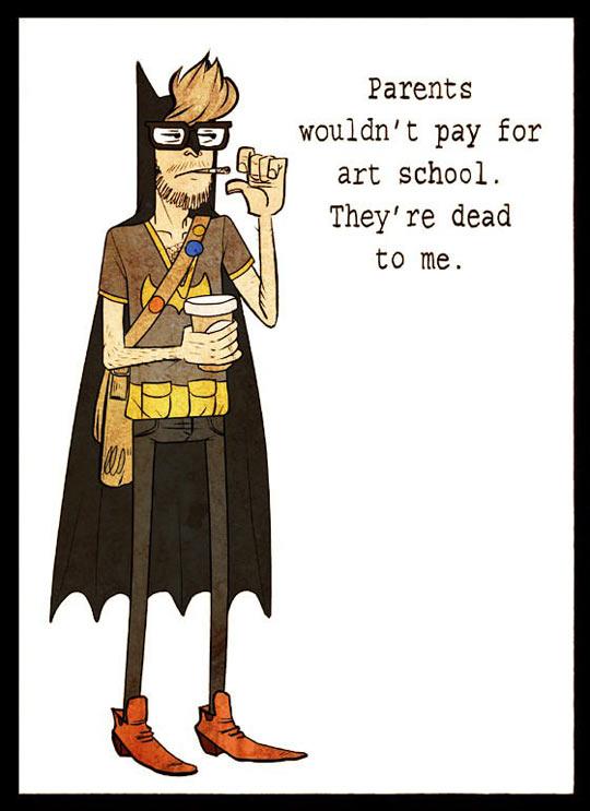Hipster Batman…