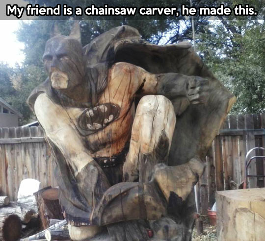 Chainsaw carver with a great talent…