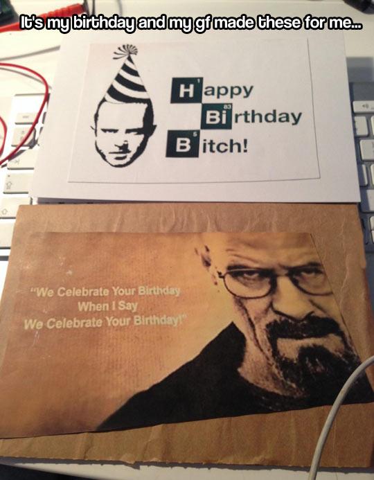 Twisted birthday card…