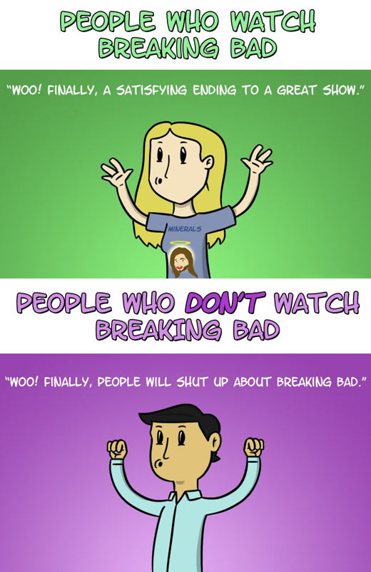 People reacting to Breaking Bad's end…