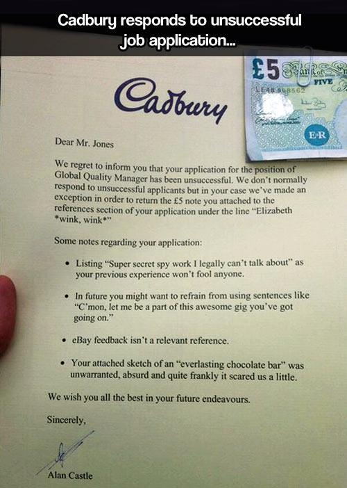 Good guy Cadbury…