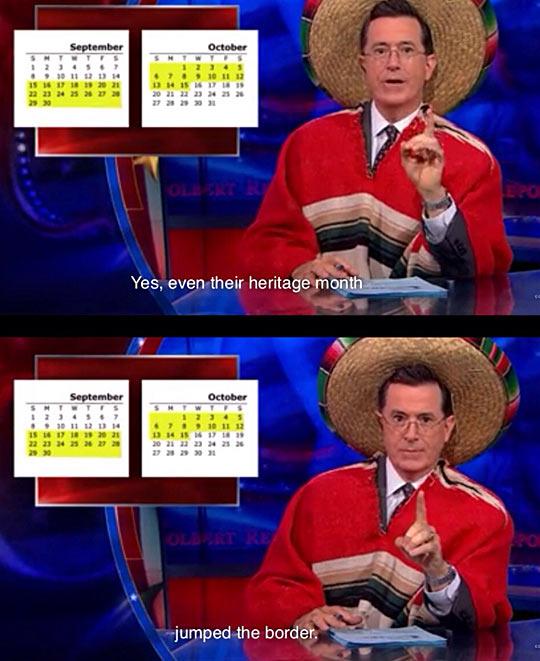 Colbert on Hispanic Heritage Month…