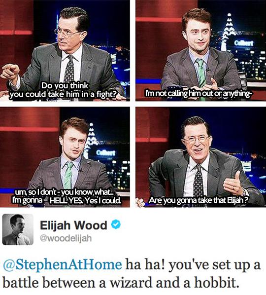 A battle between a wizard and a hobbit…