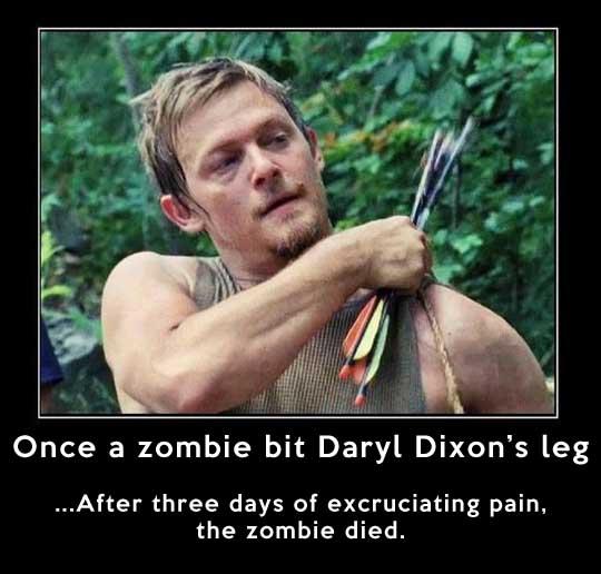 Daryl Dixon vs. any zombie…