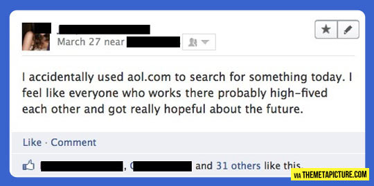 Using AOL as your search engine…