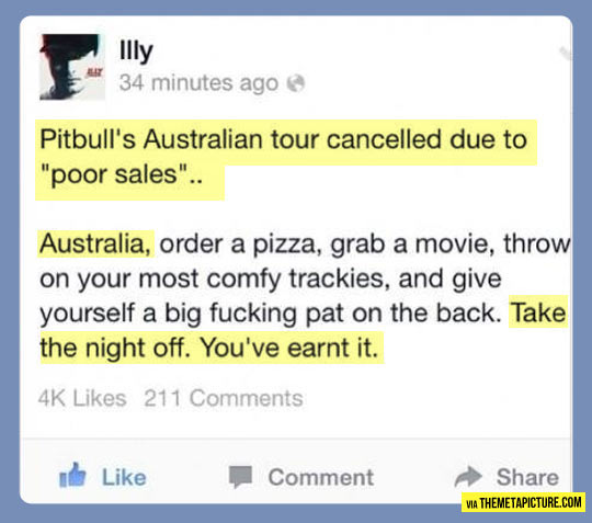 funny-Facebook-Pitbull-Australian-tour-cancelled