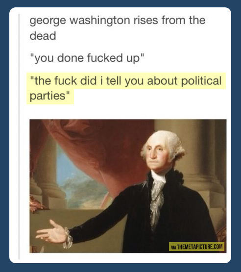 Washington rises from the dead…