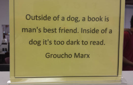 funny-Groucho-Marx-quote-mans-best-friend-book