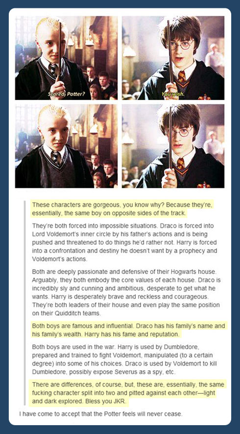 Harry Potter and Draco…