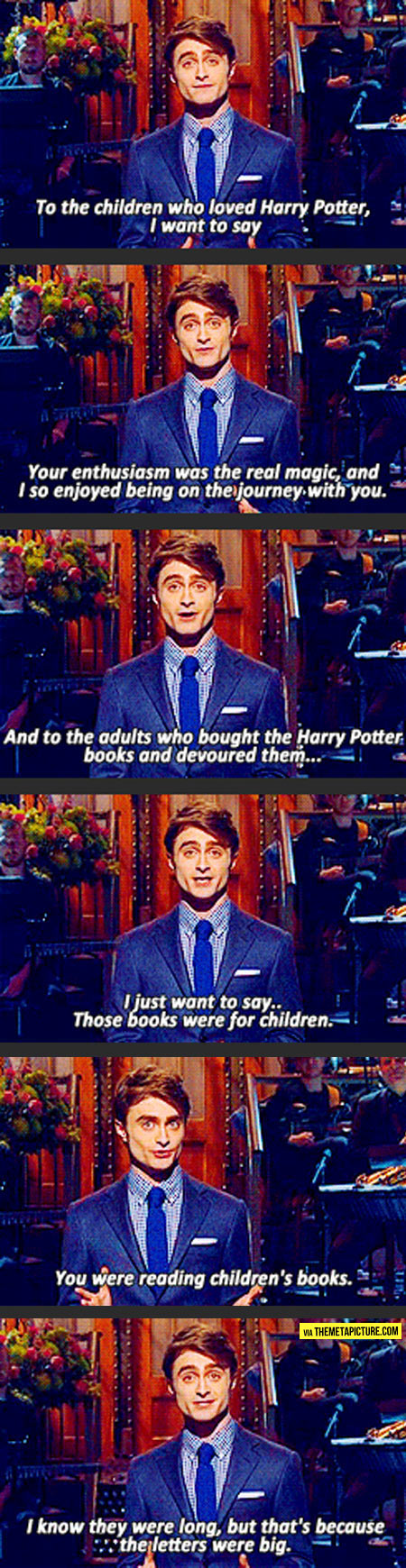 To all the Harry Potter adult readers…