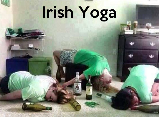 How they usually do yoga in Ireland…