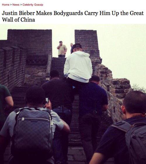 Justin Bieber, again…