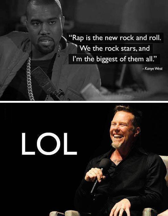 funny-Kanye-West-insult-rock-James-Hetfield