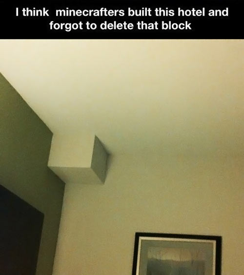 Minecraft hotel room…