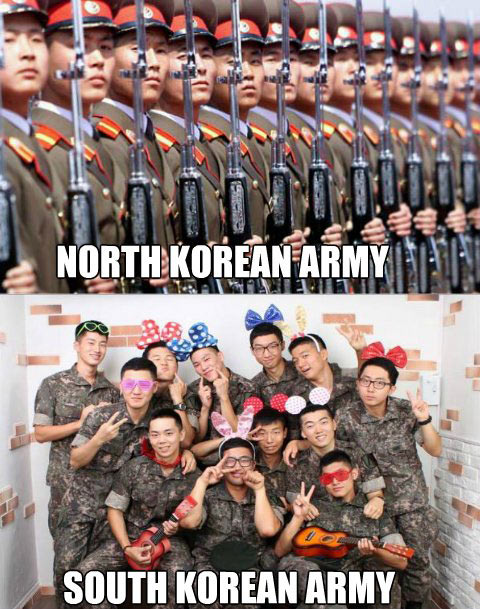 funny-North-South-Korean-army-differences
