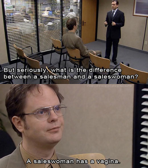 funny-Office-difference-salesman-saleswoman-Dwight