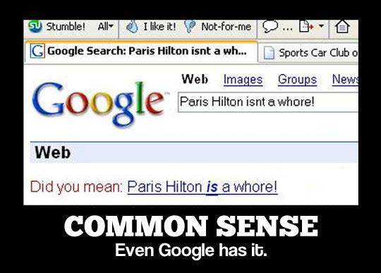 It's common sense…