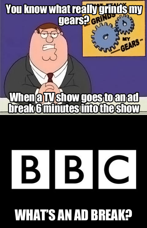 TV ad breaks…
