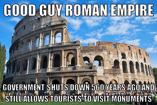 The Roman Empire sure knows how to do it right…