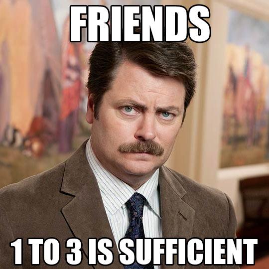 funny-Ron-Swanson-few-friends