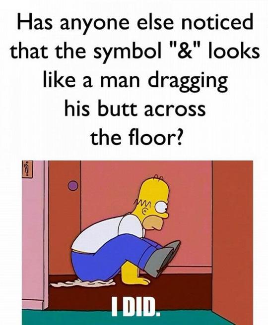 The ampersand symbol…