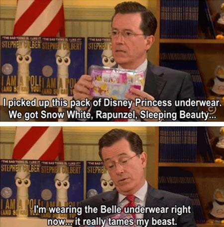 funny-Steven-Colbert-underwear-Disney-Princess