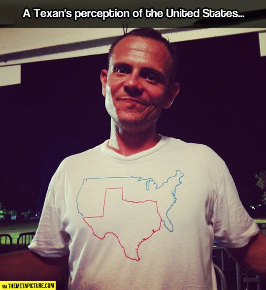 The United States according to a Texan…