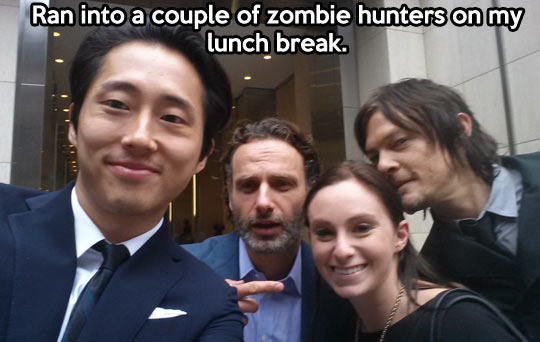 funny-The-Walking-Dead-actors-lunch