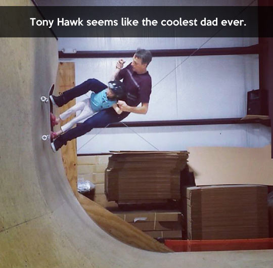 The coolest dad award goes to…