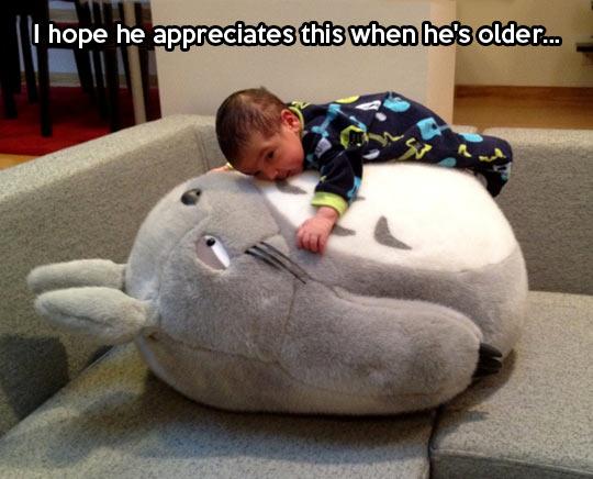Every kid needs a giant Totoro stuffed animal…