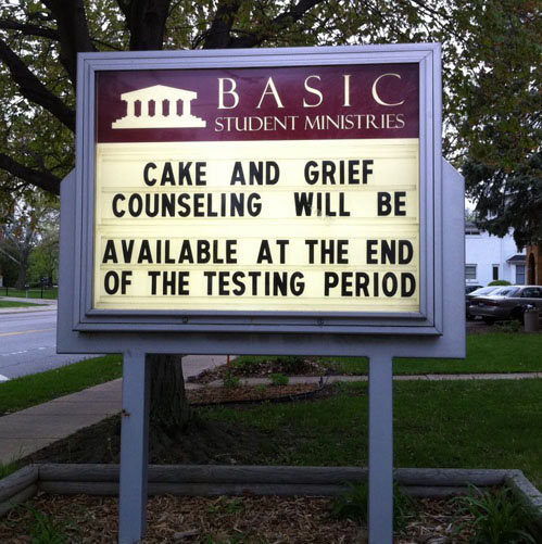 Cake and grief counseling…