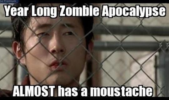 funny-Walking-Dead-Glenn-moustache