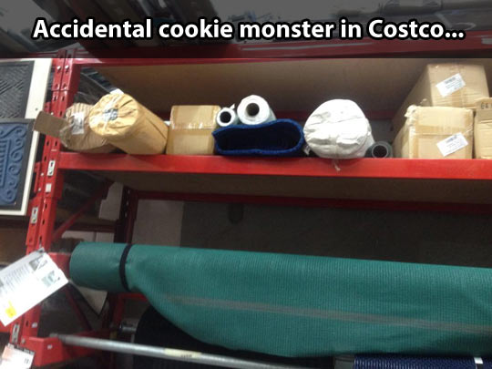 Cookie Monster has seen things…