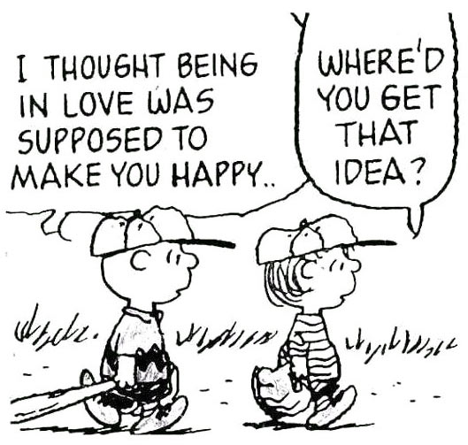 Being in love and happiness…