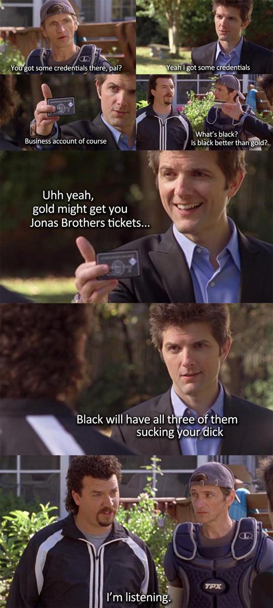 Black credit card…