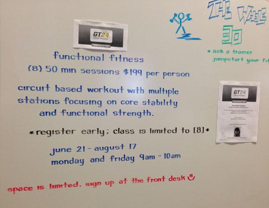 Amazing whiteboard handwriting…