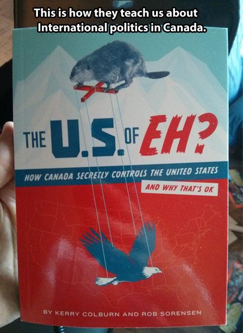Learning international politics in Canada…