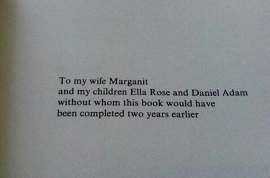 Heartfelt dedication…