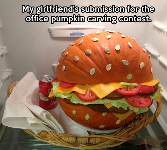 Pumpkin contest winner…