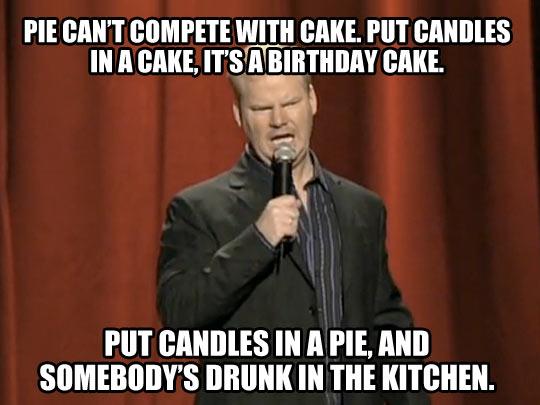 Cake vs. pie…