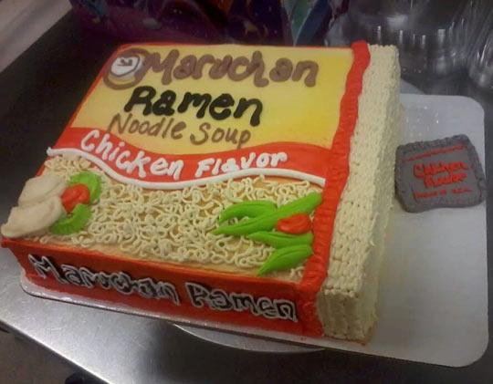 Ramen cake…