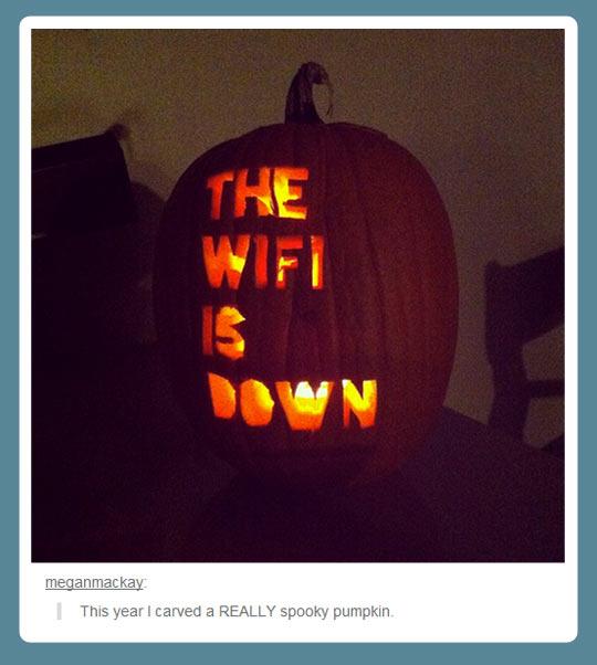 A really spooky pumpkin…