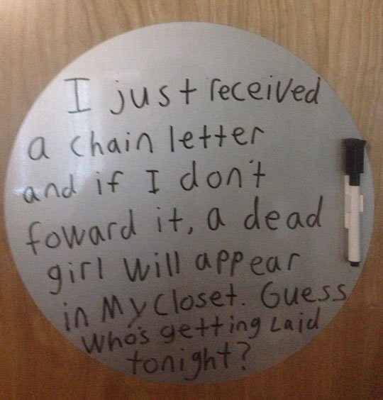 Chain letters are not so bad after all…